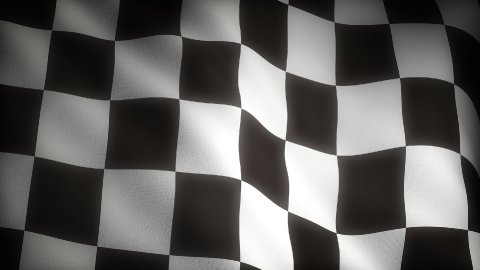 Checkered Flag - stock footage