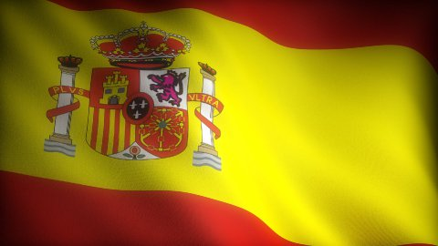 Flag of Spain - stock footage