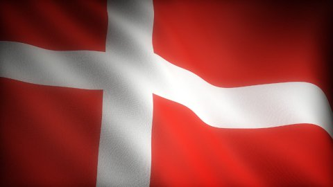 Flag of Denmark - stock footage