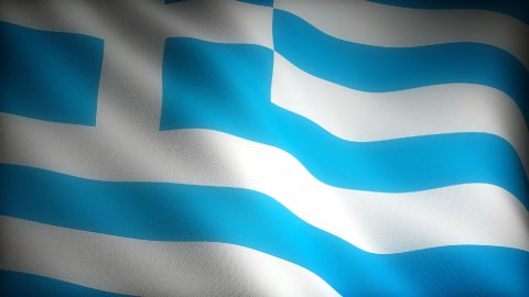 Flag of Greece - stock footage