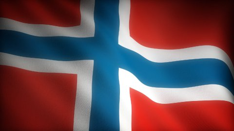 Flag of Norway - stock footage