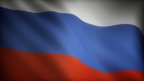 Flag of Russia - stock footage