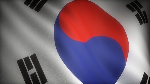 Flag of South Korea  - stock footage