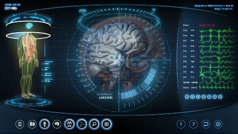 Futuristic brain scan - stock footage