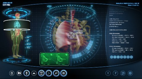 Futuristic lungs scan - stock footage