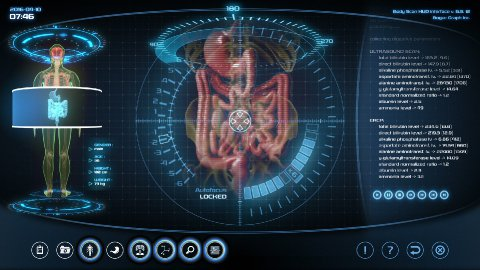 Futuristic digestive system scan - stock footage