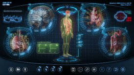 Futuristic human anatomy scan - motion graphic