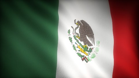 Flag of Mexico - stock footage