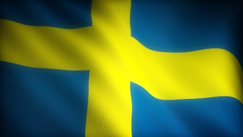 Flag of Sweden - stock footage