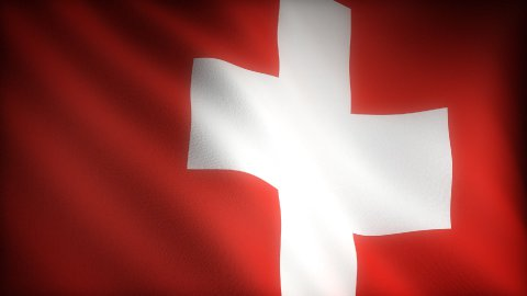 Flag of Switzerland - stock footage