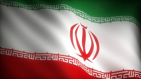 Flag of Iran - stock footage