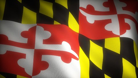 Flag of Maryland - stock footage