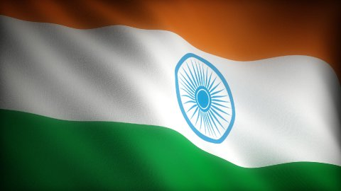Flag of India - stock footage