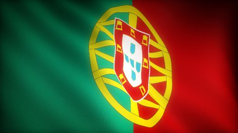 Flag of Portugal - stock footage