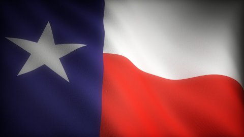 Flag of Texas - stock footage