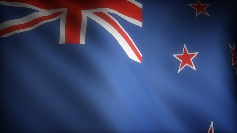 Flag of New Zealand - stock footage