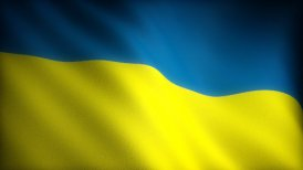 Flag of Ukraine - motion graphic