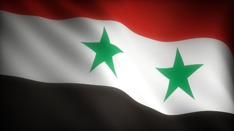 Flag of Syria - stock footage