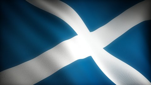 Flag of Scotland - stock footage