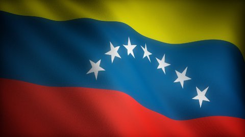 Flag of Venezuela - stock footage