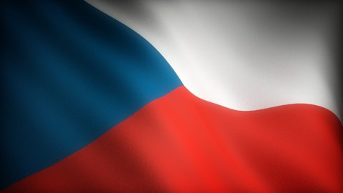 Flag of Czech Republic - stock footage