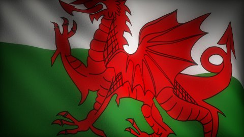 Flag of Wales - stock footage
