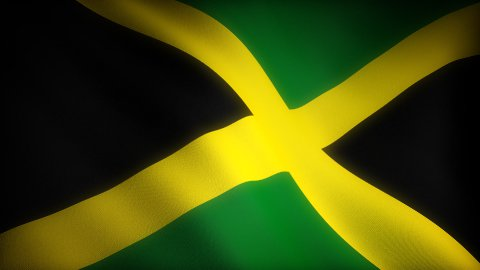 Flag of Jamaica - stock footage