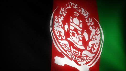 Flag of Afghanistan - stock footage