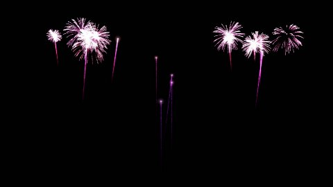 Colorful Fireworks - stock footage