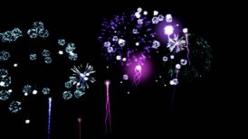Colorful Fireworks - Loop - editable clip, motion graphic, stock footage