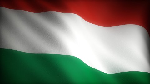 Flag of Hungary - stock footage