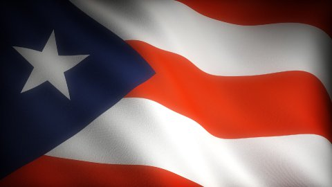 Flag of Puerto Rico - stock footage