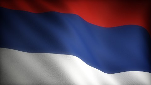 Flag of Serbia - stock footage