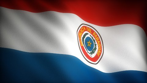 Flag of Paraguay - stock footage