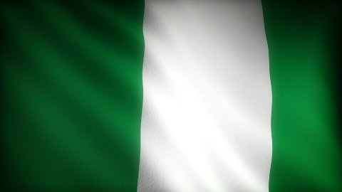 Flag of Nigeria - stock footage