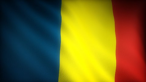 Flag of Chad - stock footage