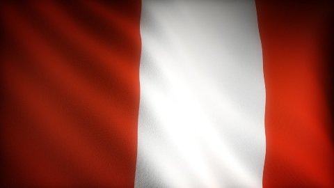 Flag of Peru - stock footage
