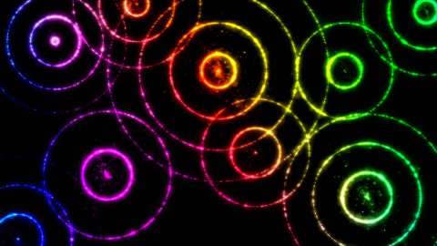 Abstract Colorful Circle Animation - Loop - stock footage