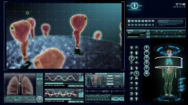 HER2/Neu receptor visualization - editable clip, motion graphic, stock footage