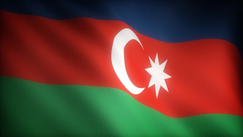 Flag of Azerbaijani - stock footage