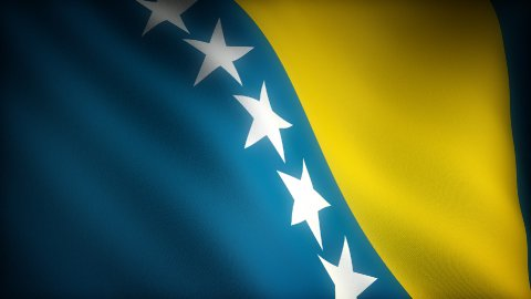 Flag of Bosnia-Herzegovina - stock footage