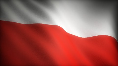Flag of Poland - stock footage