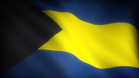 Flag of Bahamas - stock footage