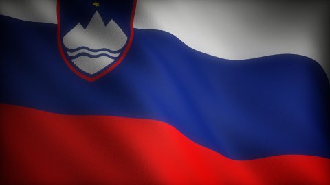 Flag of Slovenia - stock footage