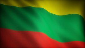 Flag of Lithuania - motion graphic