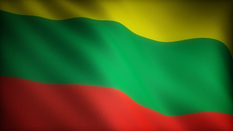Flag of Lithuania - stock footage