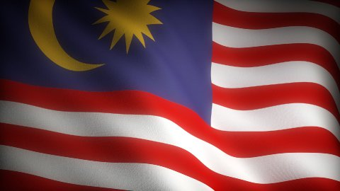 Flag of Malaysia - stock footage
