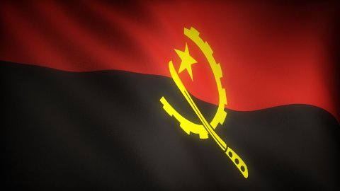 Flag of Angola - stock footage