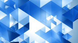 Blue Triangles Background Loop - motion graphic