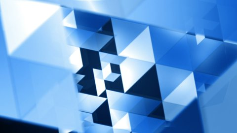 Blue Triangles Tunnel Loop - stock footage